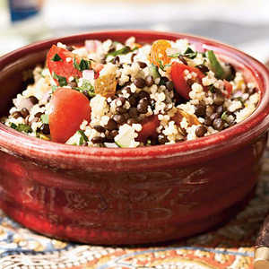Black Lentil and Couscous Salad Recipe