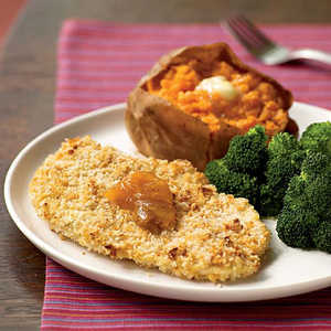 <p>Peanutty Baked Chicken Cutlets</p>