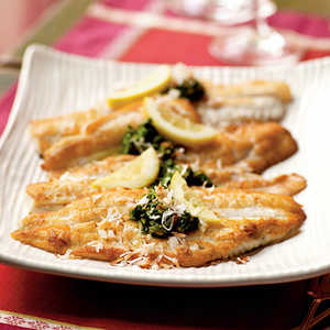 Flounder with Cilantro-Curry Topping and Toasted CoconutRecipe