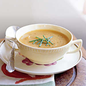 Roasted Butternut Squash and Shallot Soup Recipe