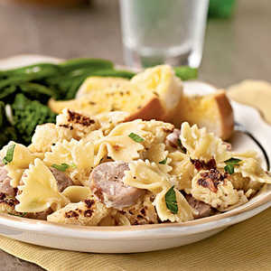 Farfalle with Cauliflower and Turkey SausageRecipe
