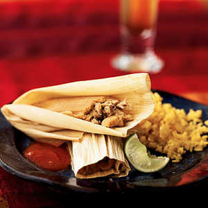 Pork and Ancho Chile Tamales with Mexican Red Sauce Recipe