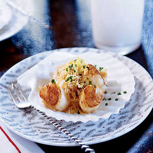 Nantucket Bay Scallops with Bay-Scented ButterRecipe