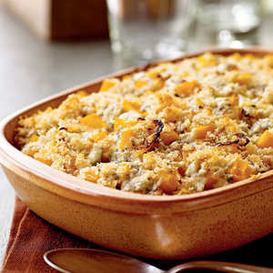 Butternut Squash Gratin with Blue Cheese and SageRecipe