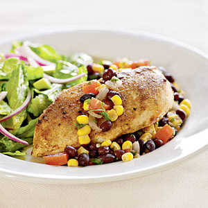 <p>Chicken with Southwestern Salsa</p>