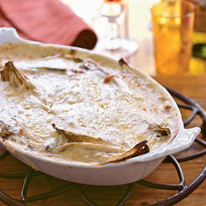 Gratin of Belgian Endive with Bacon (Gratin d'Endives Ardennaise)Recipe