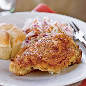 Buttermilk Oven-Fried Chicken with ColeslawRecipe