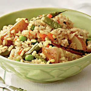 Mixed Vegetable and Rice PilafRecipe