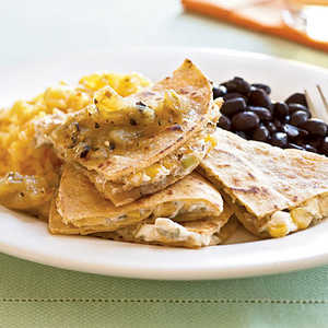 Goat Cheese and Roasted Corn Quesadillas Recipe