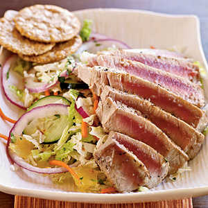 <p>Pan-Grilled Thai Tuna Salad</p>