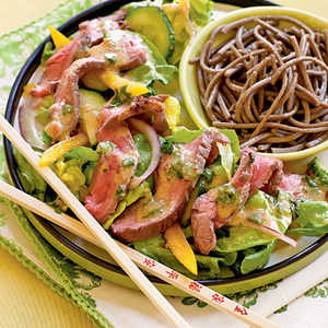 <p>Ginger Beef Salad with Miso Vinaigrette</p>