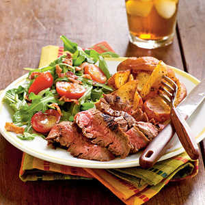 <p>Ancho-Rubbed Flank Steak</p>