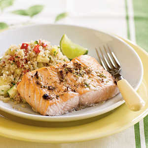<p>Broiled Salmon with Peppercorn-Lime Rub</p>
