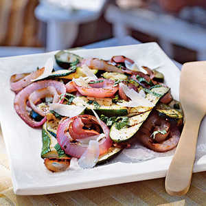Italian Grilled Zucchini and Red Onion Recipe