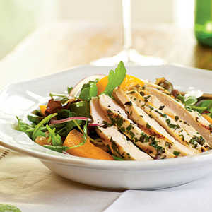 Arugula Salad with Chicken and ApricotsRecipe