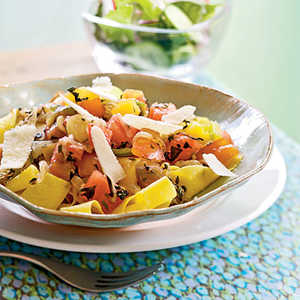 Heirloom Tomato and Herb PappardelleRecipe