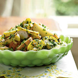 Potato Salad with Herbs and Grilled Summer SquashRecipe
