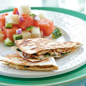 <p>Chicken, Mushroom, and Gruyere Quesadillas</p>