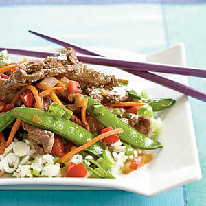 <p>Beef and Sugar Snap Stir-Fry</p>