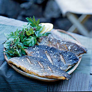 Pan-Fried Trout with Fresh Herb SaladRecipe