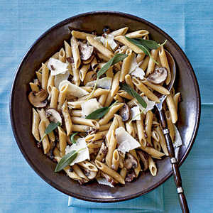 Penne with Sage and MushroomsRecipe