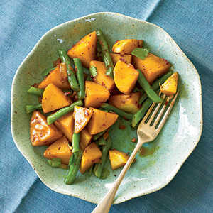Spiced Potatoes and Green BeansRecipe