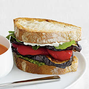 <p>Eggplant and Goat Cheese Sandwiches</p>