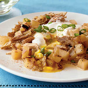 Pork-Potato Hash with Eggs Recipe