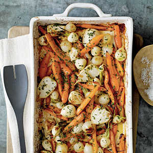 Roasted Root Vegetables with Sorghum and CiderRecipe