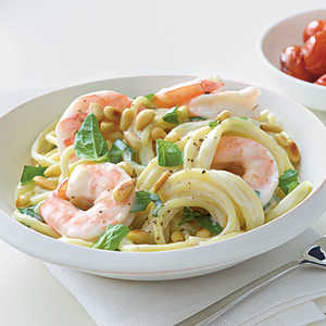 <p>Shrimp and Pine Nut Spaghetti</p>