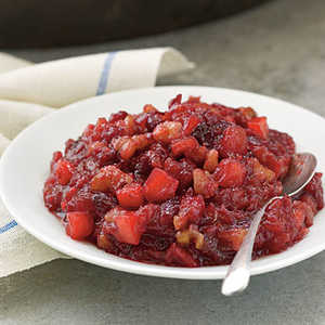 Cranberry, Apple, and Walnut Sauce Recipe