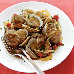 Spanish-Style Clams with Red Peppers and SherryRecipe