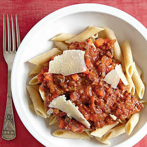 Vegetarian Bolognese with Whole-Wheat PenneRecipe