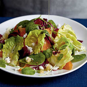 Winter Salad with Roasted Beets and Citrus Reduction DressingRecipe