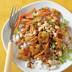 <p>Szechuan-Style Tofu with Peanuts</p>
