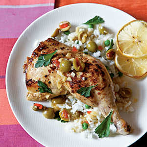 Chicken with Lemon and OlivesRecipe