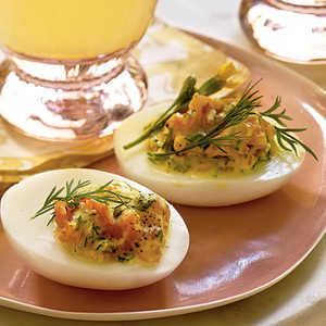 Deviled Eggs with Smoked Salmon and Herbs Recipe