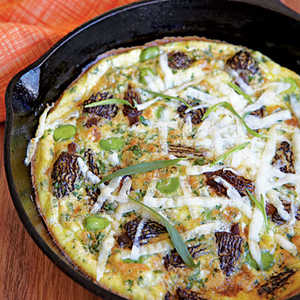 Frittata with Morels, Fava Beans, and Pecorino Romano CheeseRecipe