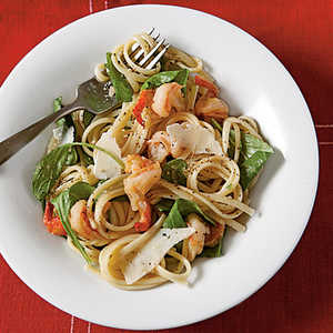 Peppery Pasta with Arugula and ShrimpRecipe