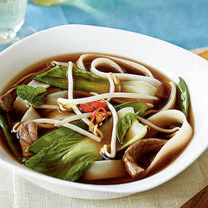 <p>Vietnamese Beef-Noodle Soup with Asian Greens</p>