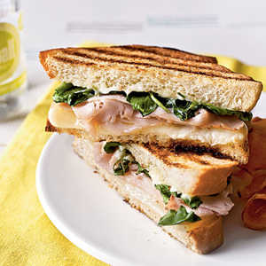 <p>Turkey Panini with Watercress and Citrus Aioli</p>