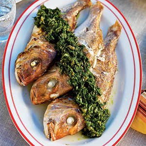 Whole Baby Snapper and Green Sauce Recipe