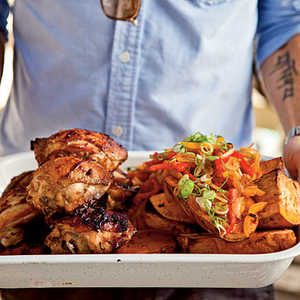 Marinated Chicken Thighs with Sweet Potato Recipe