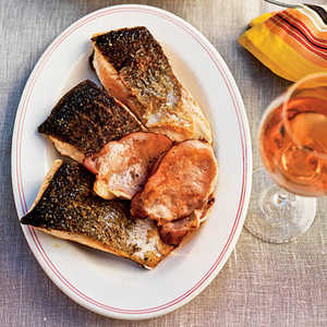 Ocean Trout with Coleslaw and Crispy Smoked BaconRecipe