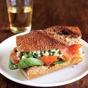 Smoked Salmon Sandwiches with Ginger RelishRecipe