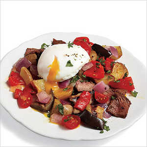 Steak Hash with Poached EggsRecipe