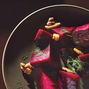 Beets with Dill and Walnuts Recipe