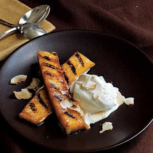 Rum-Spiked Grilled Pineapple with Toasted CoconutRecipe