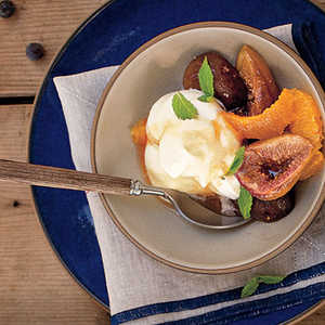 Honey-Baked Black Mission Figs with Orange and GingerRecipe