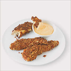Pan-Fried Chicken Fngers with Spicy Dipping Sauce Recipe